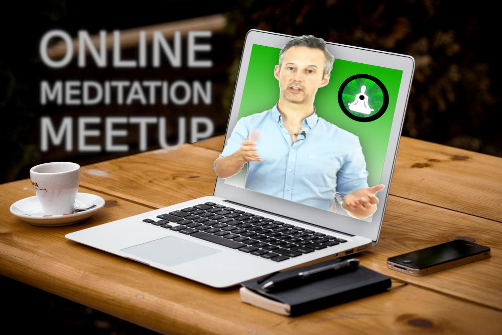Online meditation virtual meetup